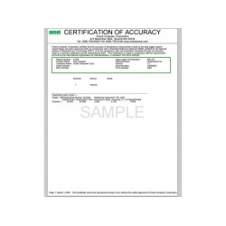 Setup Charge for NIST Traceable Certification